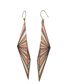 prism earrings..reallllllly want...perfect geometry made wearable...i would almost even love this as a tattoo idea