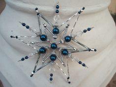 Vánoční hvězda- modrostříbrná č.1 Modrostříbrná vánoční hvězda, poloměr 11cm