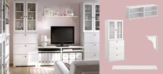 Ikea borgsjo bookcases and tv cabinet, i like how the bookcases are enclosed