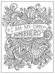 A Sample Page From Inkspirations For Breast Cancer Survivors Awareness Coloring Book
