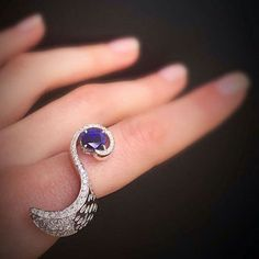 Scavia sapphire and diamonds ring