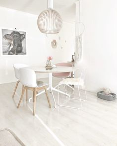 Hay table and chairs. Table And Chairs, Dining Chairs, Dining Room, Soft Colors, Colours, Minimalism, Inspire, Interior Design, Furniture