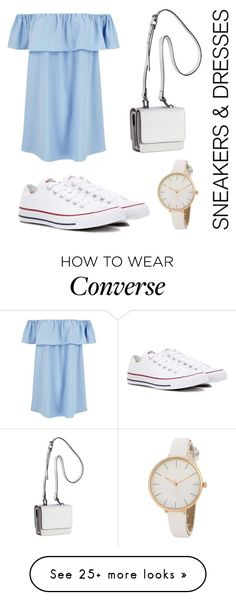 """Sneakers and Dresses"" by dreamhigh426 on Polyvore featuring Converse and Kendall + Kylie"