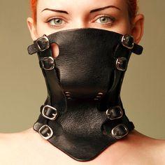 Destopian Fashion. Girl in Mask, Collar from Antiseptic.