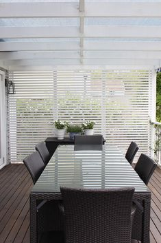 "horizontal slat ""privacy screen / wall"" on deck, porch, etc.    GEORGICA POND"