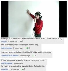 Awesome comments on the Cornerstone video... I also do the wall thing