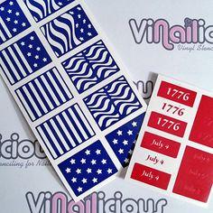Patriotic Variety sheet by ViNailicious on Etsy