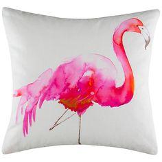 Kas Flamingo Cushion, Hot Pink