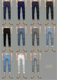 Male_Roll-Up Jeans_롤업 진_남자 의상 - SIMS4 marigold