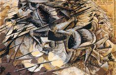 Umberto Boccioni - Charge of the Lancers, 1915.