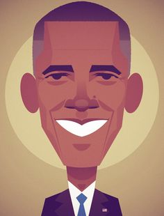 Barack Obama by Stanley Chow // Wired on Behance Character Illustration, Graphic Illustration, Graphic Art, Vector Portrait, Portrait Art, Digital Portrait, Digital Art, Stanley Chow, Obama Portrait