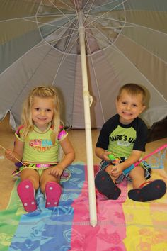 The Thursday morning Storytime group at Atlantic County Library System/Galloway Township celebrating summer with a beach party. The youngsters made a crab craft, collected shells on an indoor beach, had a surfing lesson, played games, and enjoyed refreshments.