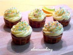 Cup Cakes Πορτοκάλι   Είμαστε Γυναίκες   Το απόλυτο γυναικείο περιοδικό Orange Cupcakes, Mini Cupcakes, Favorite Recipes, Desserts, Food, Tailgate Desserts, Deserts, Essen, Postres