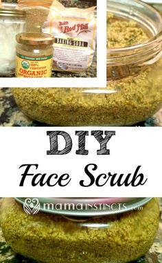 Make your own organic, natural & non-toxic face scrub in under 5 minutes. Your skin will feel so much cleaner and smoother. #DIY #facescrub #organic #nontoxic #beautyproducts #faceproducts