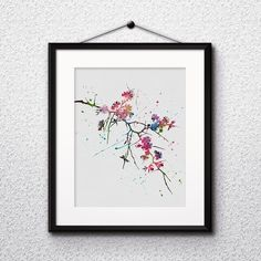 Sakura Nature wall art prints, posters, wall paintings, watercolor art, decor