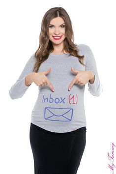 Bluzka ciążowa Inbox szara