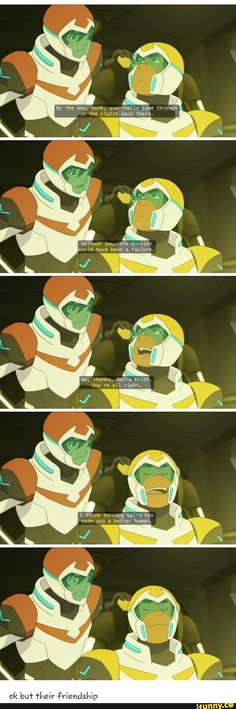 personally this scene made me uncomfortable bc I feel like it's like hunk is being low key racist...