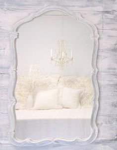 Shabby Chic Mirror For Sale FRENCH COUNTRY HOME by RevivedVintage, $258.00