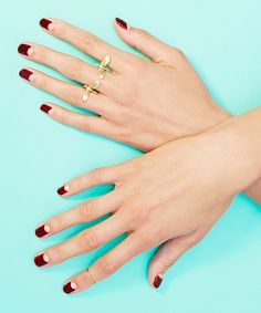 How To Nail The Half-Moon Manicure #refinery29