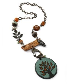 A tree inspired necklace from the Vintaj design team.