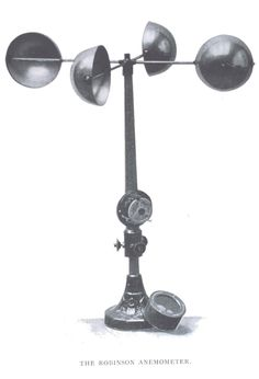 The Robinson anemometer. In: The Aims and Methods of Meteorological Work by Cleveland Abbe. In: Maryland Weather Service, Johns Hopkins Press, Baltimore, 1899. Volume I. Page 316.