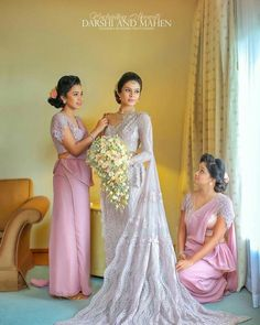 Dress desings by Charith Wijesekara White Saree Wedding, Indian Wedding Ceremony, White Bridal, Dream Wedding Dresses, Bridal Dresses, Bridal Sarees, Wedding Sarees, Bridesmaid Saree, Wedding Bridesmaids