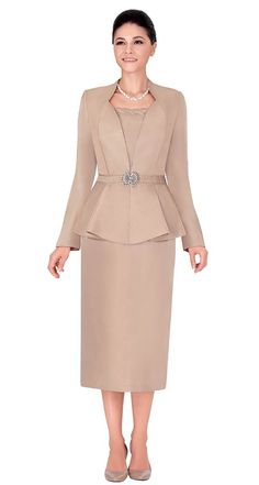 Fall 2015Gold Silver Sizes 8-24 Womens Dress Suits, Suits For Women, Jackets For Women, Classy Suits, Classy Dress, Modest Dresses, Choir Dresses, Evening Gowns With Sleeves, Long Skirts For Women