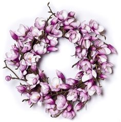 magnolia wreath -this one is fake, want to see if I can make real- they smell lovely!