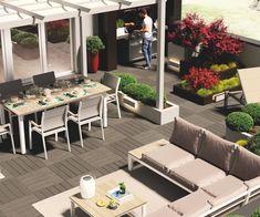 Giardino - Arredare un grande terrazzo per belle serate all'aperto Outdoor Furniture Sets, Outdoor Decor, Balcony, Terrace, Patio, Interior Design, Gardening, Home Decor, Google