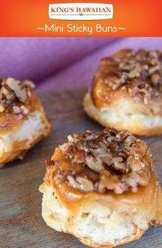 Perfect for a Easter breakfast or brunch item. Everyone loves Mini Sticky Buns especially on KING'S HAWAIIAN bread.
