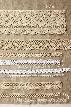 crochet trim from Joann's unless marked. Search etsy too. {nana co}