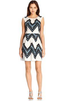 Tribal Zig Zag Cotton Dress
