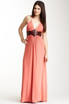 Braided Halter Maxi Dress
