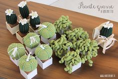 Annie's Crochet, Crochet Cactus, Crafts To Make And Sell, Wedding Favors, Wedding Ideas, Gifts For Kids, Succulents, Projects To Try, Place Card Holders