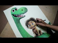 Speed Drawing: Arlo and Spot (The Good Dinosaur) Diana Diaz, Arlo Und Spot, Chibi, Dinosaur Drawing, The Good Dinosaur, Pixar, Good Things, Drawings, Disney