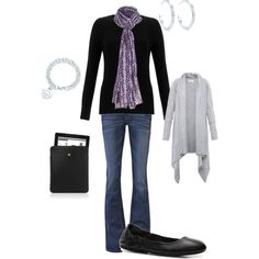 Blissdom Daywear Outfit Black Purple Accent