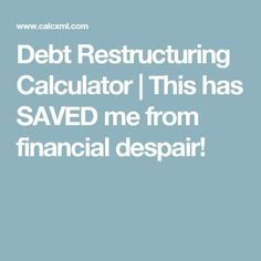 Debt Restructuring Calculator - Eliminate debt at a much faster rate! Debt Snowball Calculator, Money Tips, Cash Money, Budgeting Finances, Financial Planning, Personal Finance, How To Plan, Buzzfeed, Yard