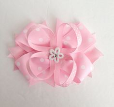 Baby Pink Hair Bow / Light Pink Hair Bows / Baby Hair Bows / Hair Bows / Big Pink Hair Bows / Easter Hair Bows / Pastel Color Hair Bows / on Etsy, $6.50
