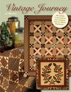 Vintage Journey is the book with the Apple Core pattern. Can't wait to get the stamp that I ordered from Cindy Blackberg for the cores. It will be a fun, fall hand piecing project!