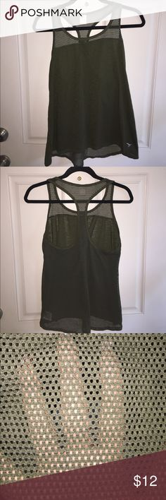 Old Navy Active Tank Forest/Olive green Old Navy workout tank-like new condition. Awesome mesh detail on the back of the tank Old Navy Tops Tank Tops