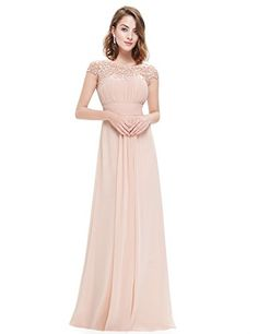 Ever-Pretty Womens Formal Lace Cap Sleeve Long Bridesmaid...
