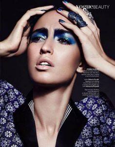 Vogue India Editorial: Blue-Eyed Beauty // #blue #makeup #editorial