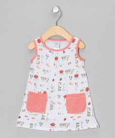 Take a look at this White Barbecue Pocket Dress - Infant, Toddler & Girls by munki munki on #zulily today!