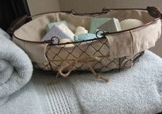 Farmhouse Wire Basket - French Home Decor, Gift Baskets, Chicken Wire Basket, Baskets, Farmhouse Kitchen, Farmhouse Chic, Cottage.