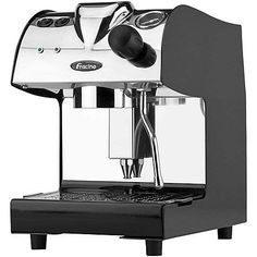 The Fracino Piccino is compact and easy to use an ideal machine for both domestic and light commercial use. It has the ability to make coffee and steam milk simultaneously through Commercial Coffee Machines, Espresso Machine, Extension Ideas, Cosmic, Black, Espresso Coffee Machine, Black People, Espresso Maker
