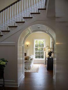 arch under stairs!