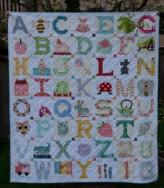 alphabet Quilt for Tiny Pink Penguin