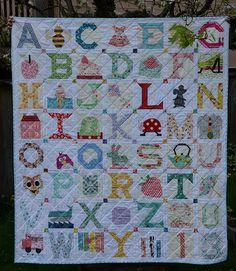 alphabet Quilt for Tiny Pink Penguin