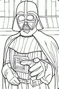 darth vader star wars coloring printable