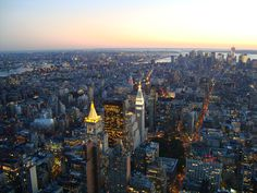 view from the Empire state building...  No words to say